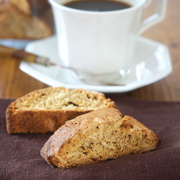 Try our homemade almond biscotti recipe with coffee