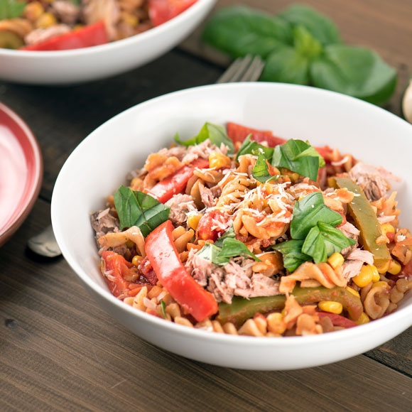 Looking for a quick and easy tuna and sweetcorn pasta recipe?